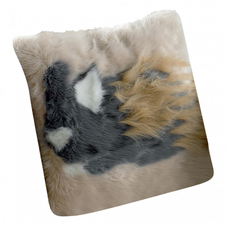 Coussin Brushy Lapin Blush 40 x 40