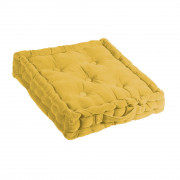 Coussin matelas velours Curry 40 x 40 x 7
