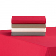 2 Serviettes de Table Unies Renato Rouge 50 X 50