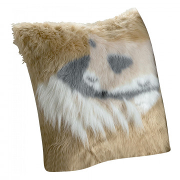 Coussin Brushy Renard Naturel 40 X 40