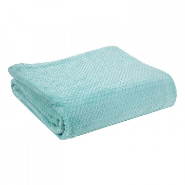 Plaid Gaufrette Aqua 130 x 160